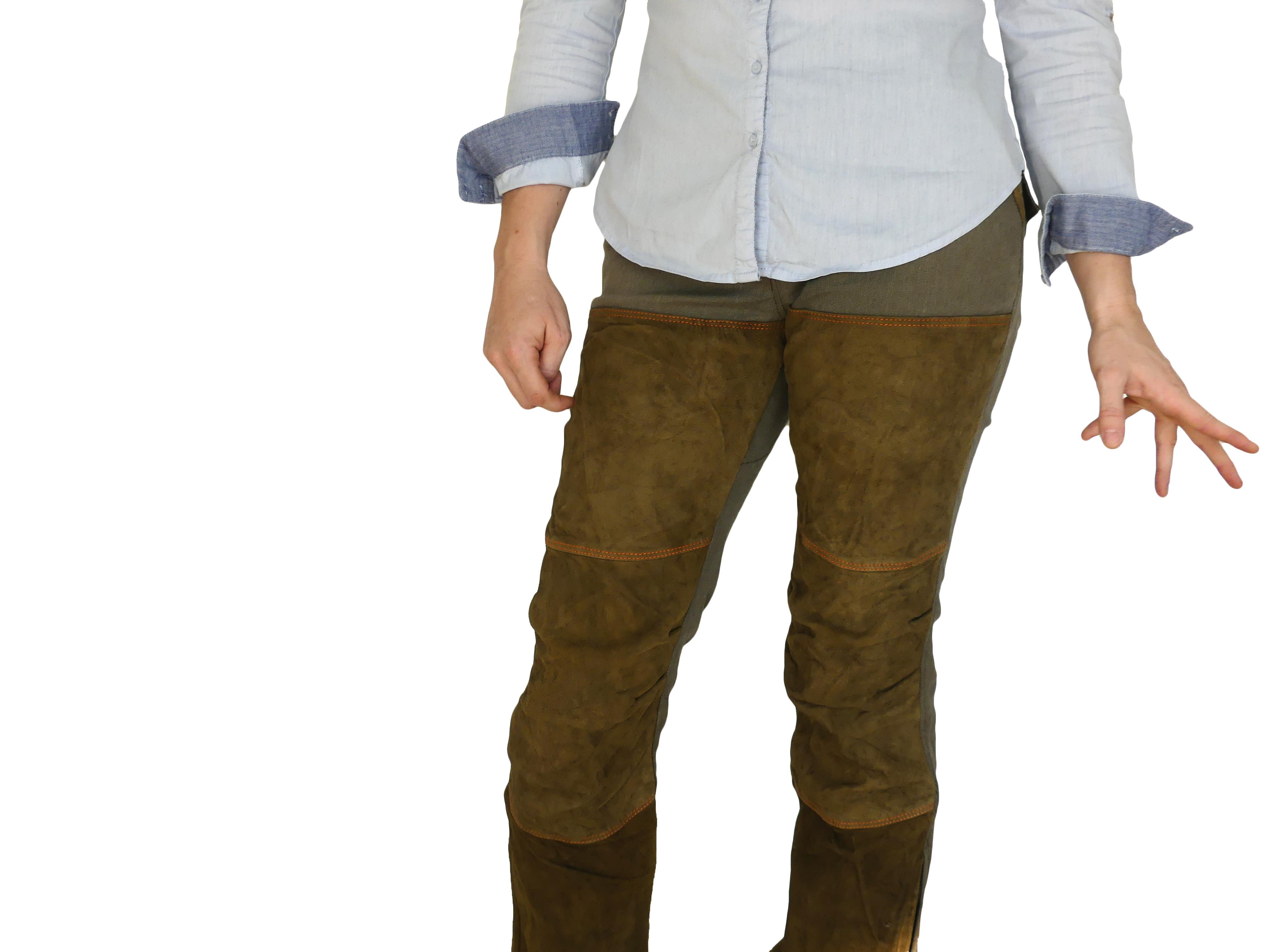 Pantalon Traqueur coupe femme renforts cuir