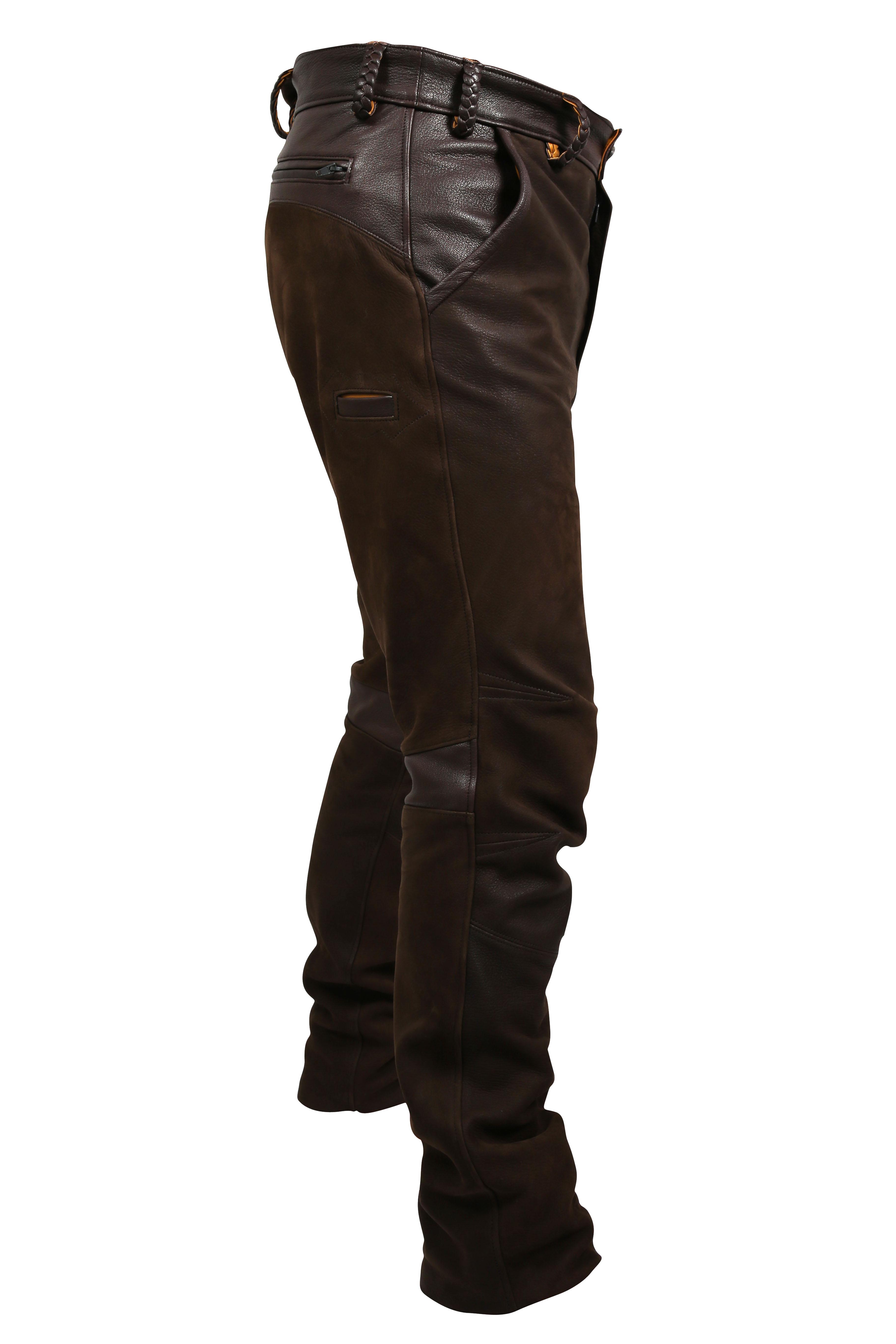 detailed images uk availability popular stores Vente de Pantalon Fox en cuir de Cerf haut de gamme pour la ...